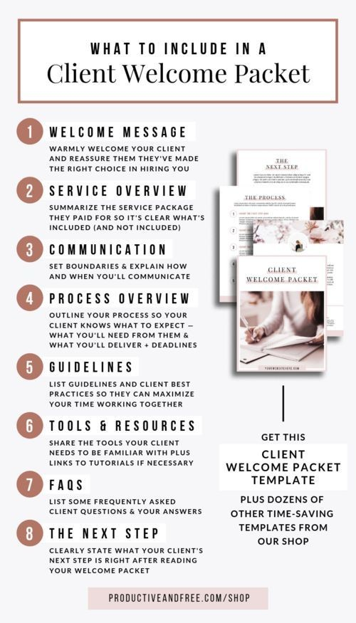 virtual assistant contract template  Client Welcome Packet Template | Business Tips and ..