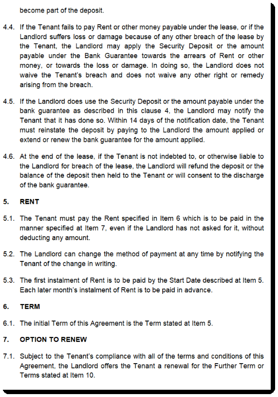 termination of contract template  Commercial Lease Agreement SA - South Australia - termination of contract template
