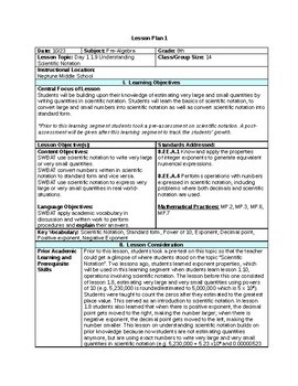 edtpa lesson plan template ny  Completed Middle School Math EDTPA Lesson Plans by Math ..