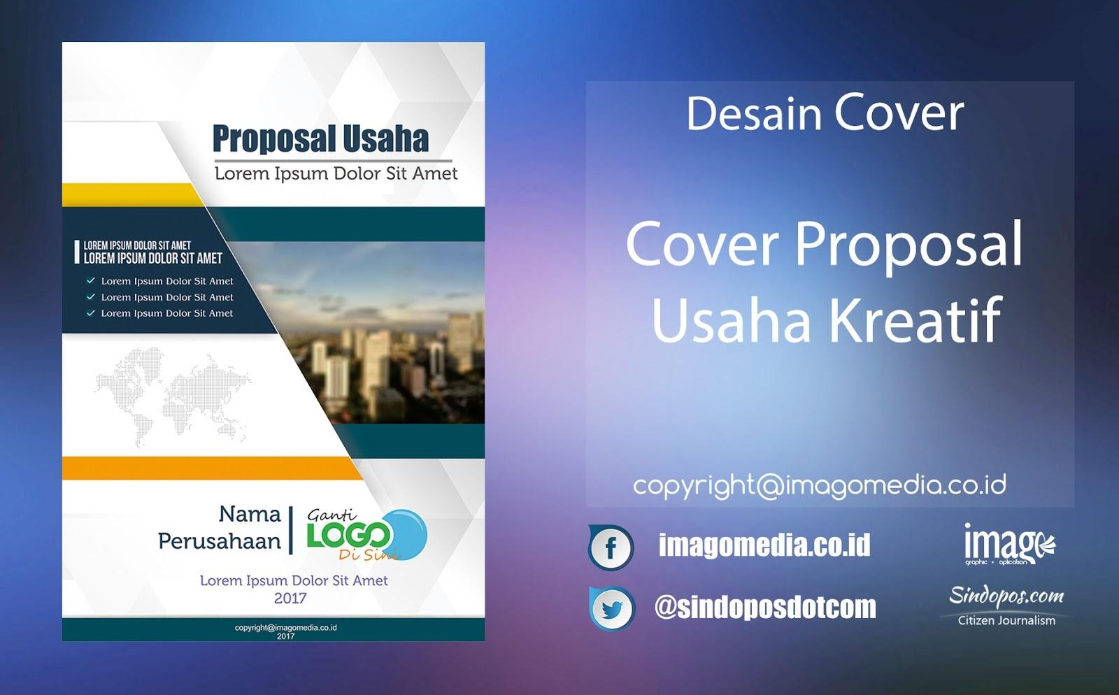 download template proposal kreatif gratis  Contoh Desain Cover Proposal Cdr - Contoh Brends - download template proposal kreatif gratis