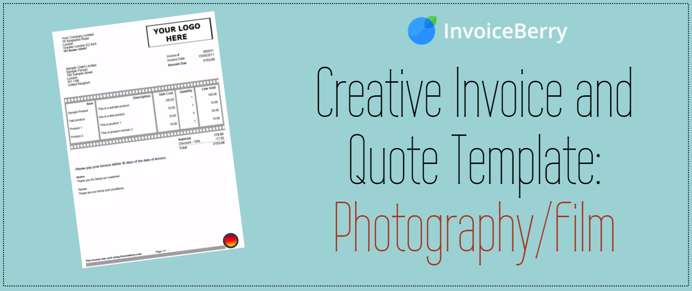 business contract template  Creative Invoice and Quote Template: Photography / Film ..