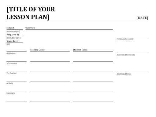 lesson plan template alberta  Daily lesson planner - lesson plan template alberta