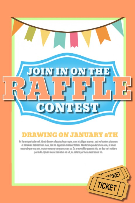flyer template raffle poster design  Design a Winning Raffle Flyer | PosterMyWall - flyer template raffle poster design