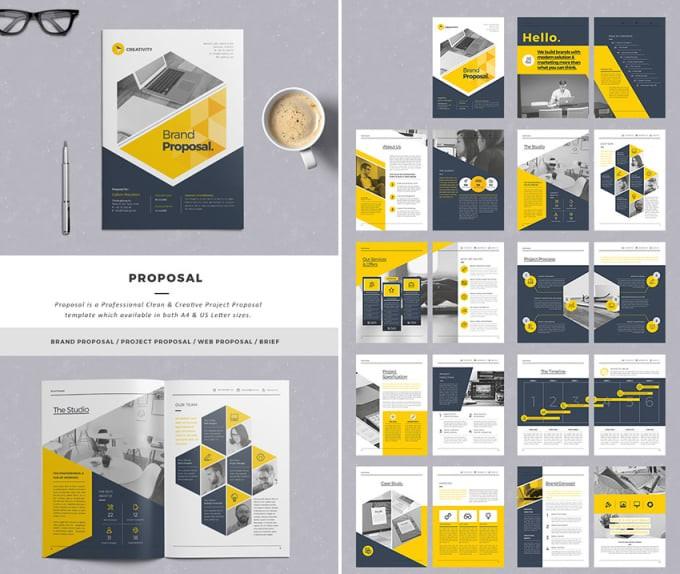 template proposal keren  Design business proposal simply and editable by Bisiayo1 - template proposal keren