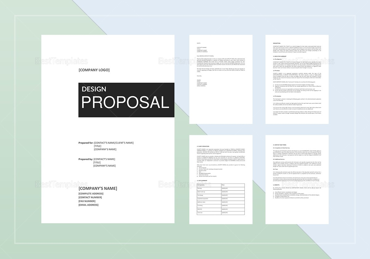 proposal template proposal design  Design Proposal Template in Word, Google Docs, Apple Pages - proposal template proposal design