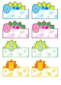 cute name labels template  Dino Name Tags for Your Little Paleontologists | Preschool ..