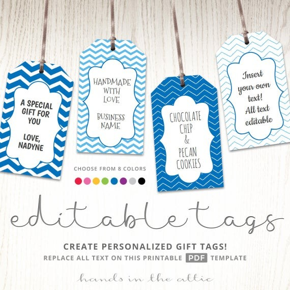 tag labels template  Editable gift tags gift tag template text editable chevron - tag labels template