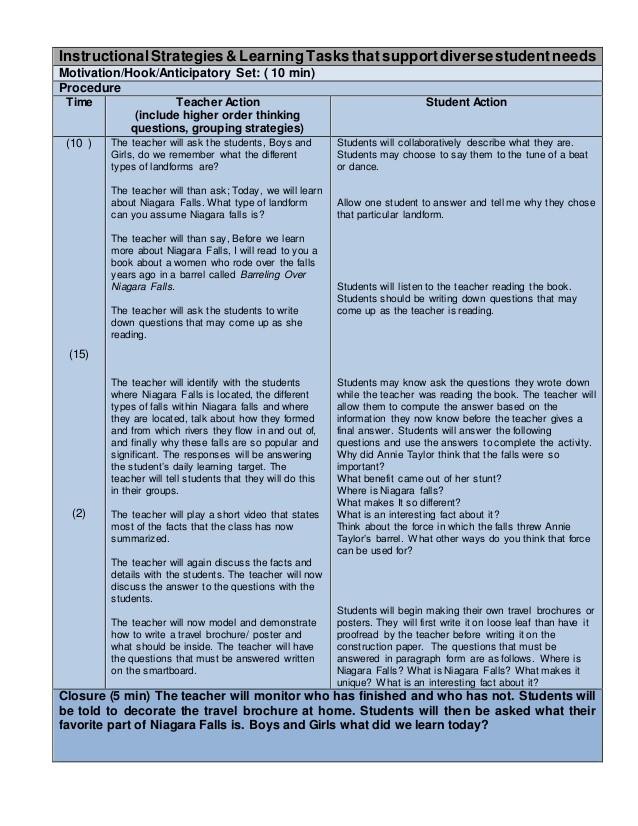 lesson plan template edtpa  edTPA - Childhood Lesson Plan Template lesson ALL 3 - lesson plan template edtpa