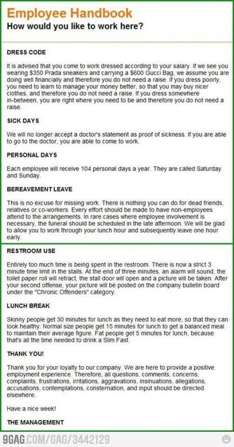 joke contract template  Employee Handbook | Funny work jokes, Work humor, Work jokes - joke contract template