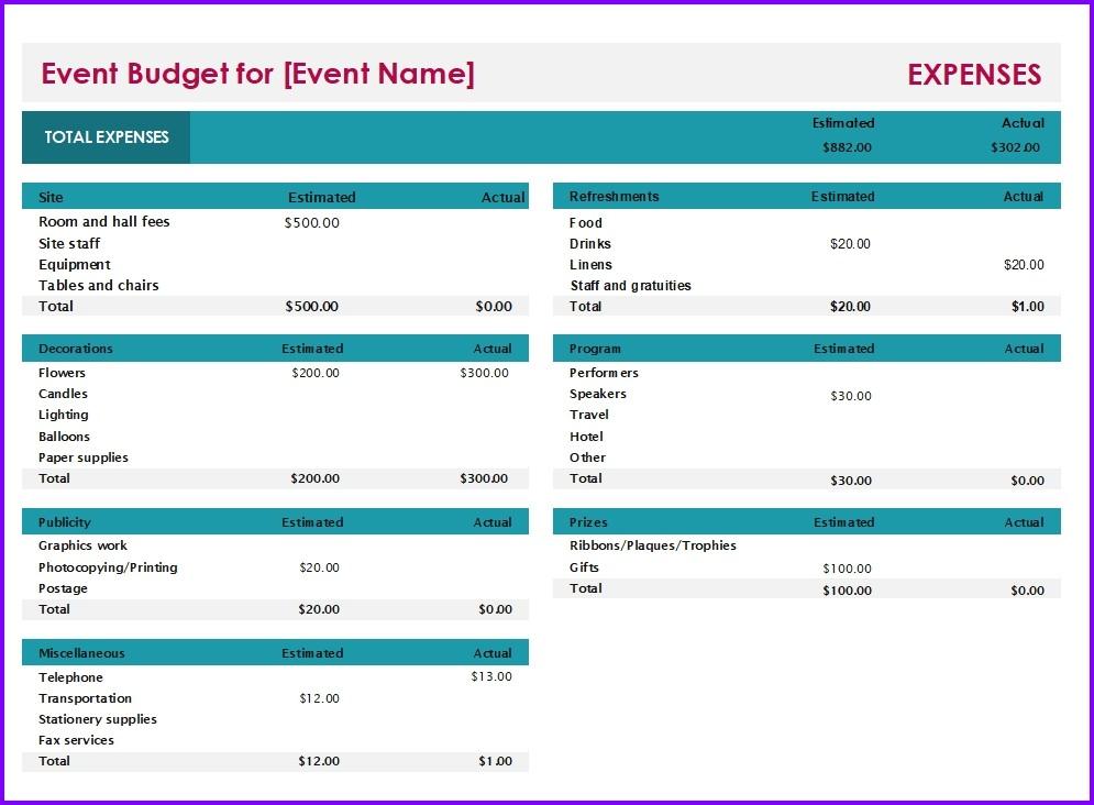 event budget template xls  Event Budget Template | Excel Templates | Excel Spreadsheets - event budget template xls