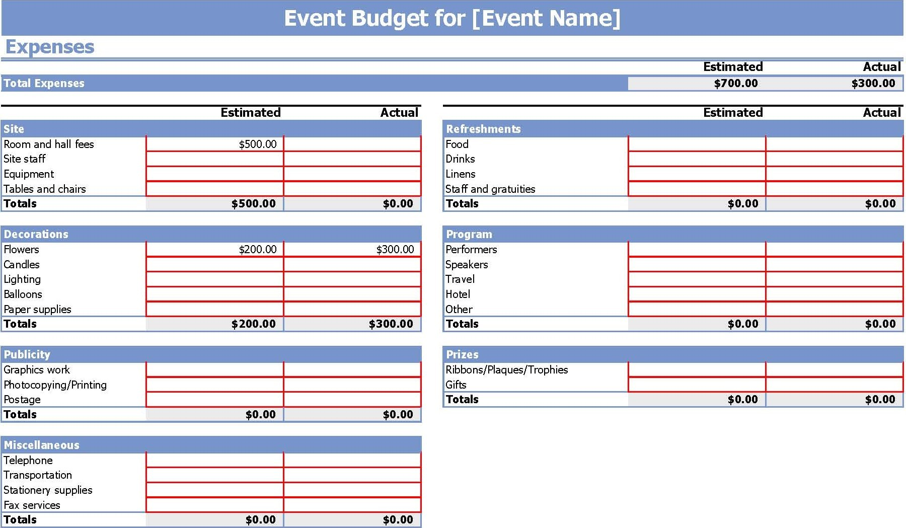event budget template xls  Event Budget Template Xls | budget template free - event budget template xls