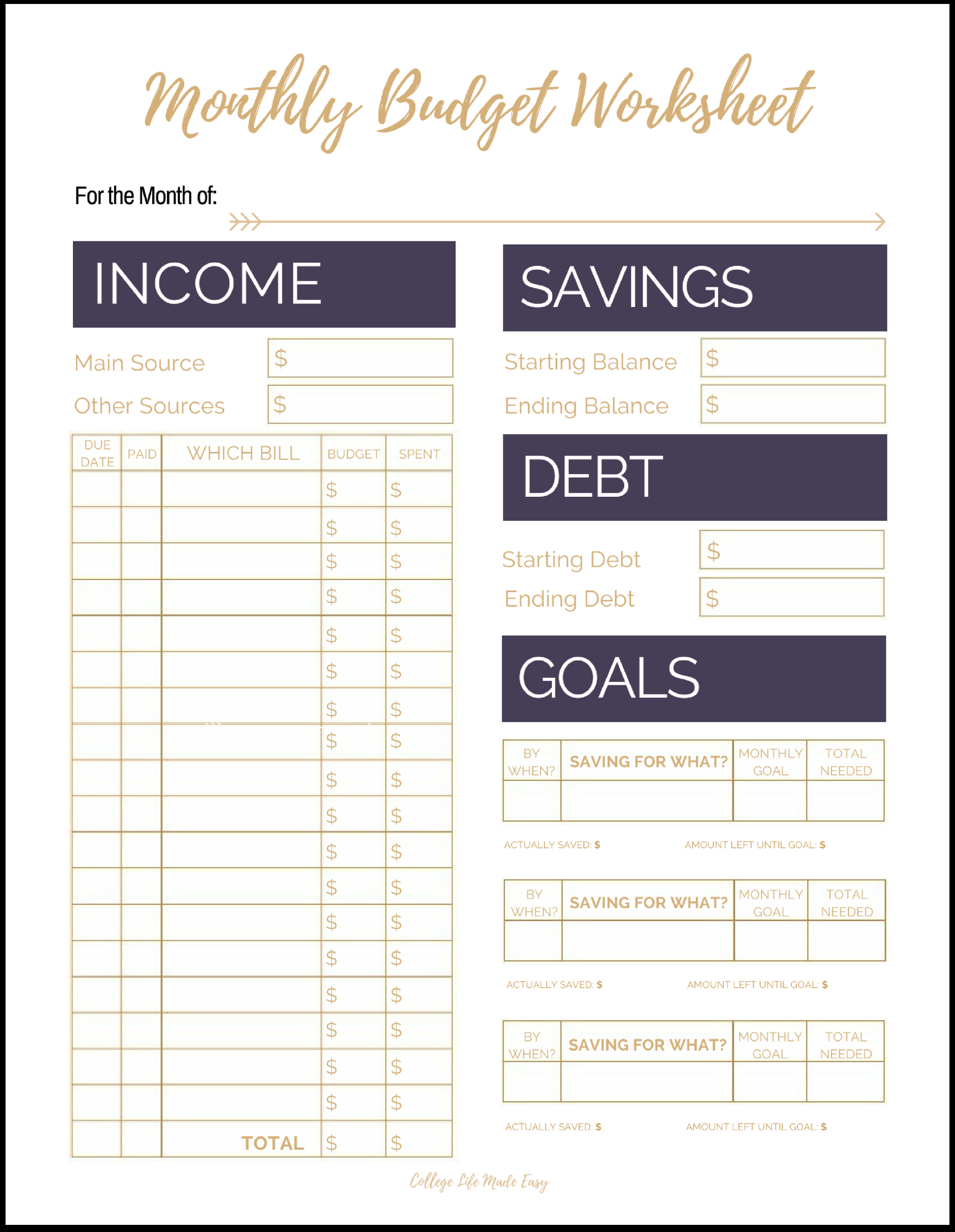budget template for young adults  Fix Your Finances ASAP with My (Free) Simple Monthly ..