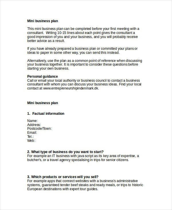 business plan template examples  FREE 28+ Simple Business Plan Examples in PDF | Word ..
