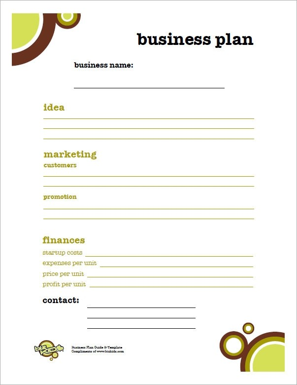 business plan template for kids  FREE 32+ Sample Business Plans and Templates in Google ..