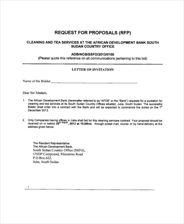 proposal template sample proposal letter for cleaning services  FREE 5+ Sample Cleaning Proposal Letter Templates in PDF ..