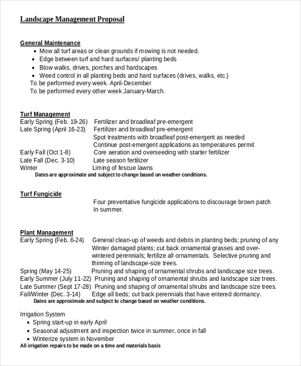landscaping proposal template  FREE 6+ Landscaping Proposal Examples & Samples in PDF ..