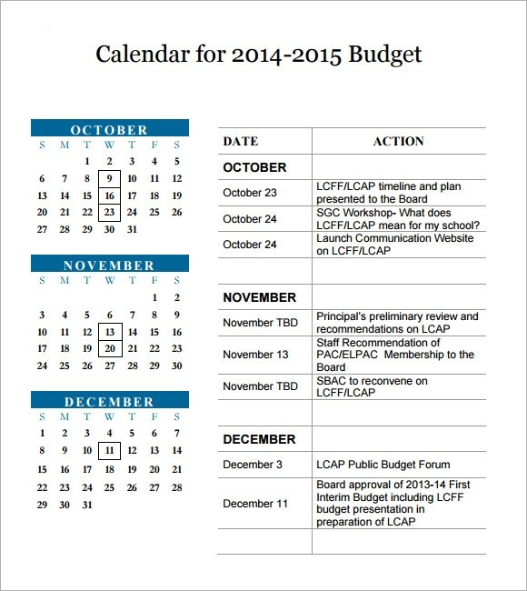 3 month budget template  FREE 6+ Sample 3 Month Calendar Templates in PDF - 3 month budget template