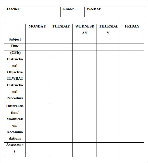 weekly lesson plan template high school  FREE 8+ Weekly Lesson Plan Samples in Google Docs | MS ..
