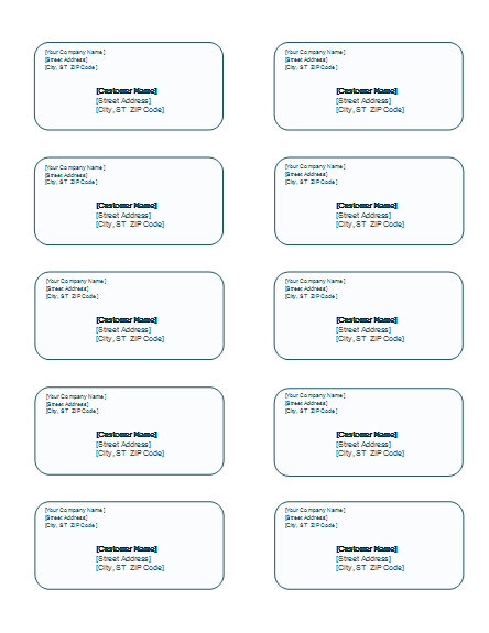 name labels template word  Free Address Label Templates - Word Templates for Free ..