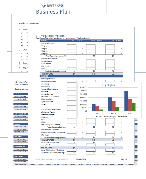 simple business plan template excel  Free Business Plan Template for Word and Excel - simple business plan template excel