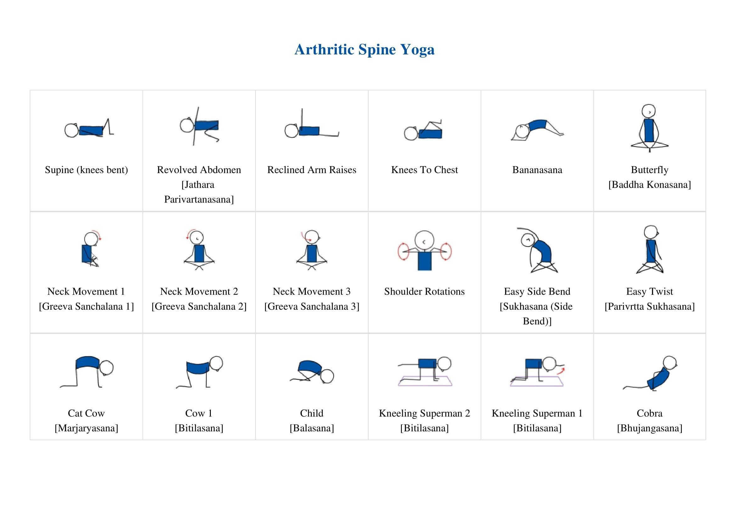 downloadable yoga lesson plan template  Free Downloadable Yoga Lesson Plan For Arthritic Spine ..