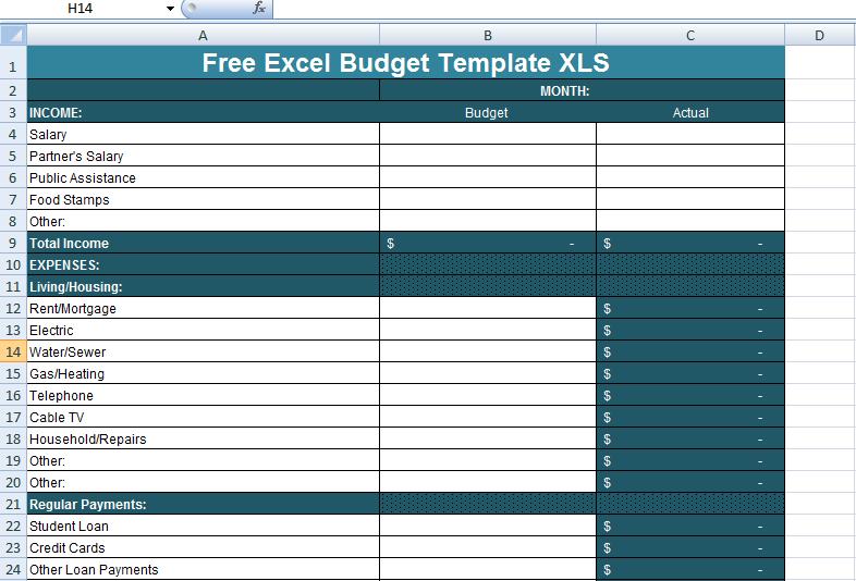 budget template xlsx  Free Excel Budget Template XLS | Excel budget template ..