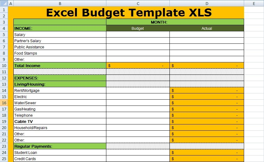 budget template xlsx  Free Excel Budget Template XLS - Free Excel Spreadsheets ..