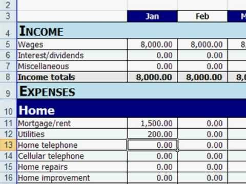 budget template personal  Free Excel Personal Budget Template - YouTube - budget template personal