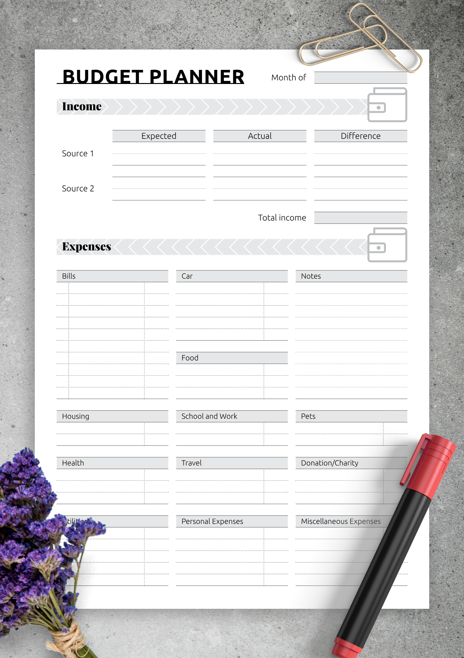 simple monthly budget template  Free Printable Simple monthly budget template PDF Download - simple monthly budget template