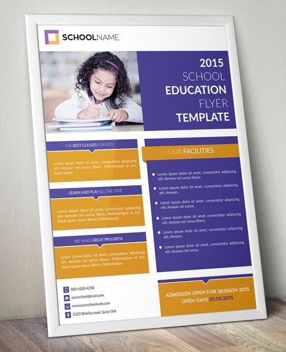 flyer template education  Free Standing Education Flyer Template PSD - TitanUI - flyer template education