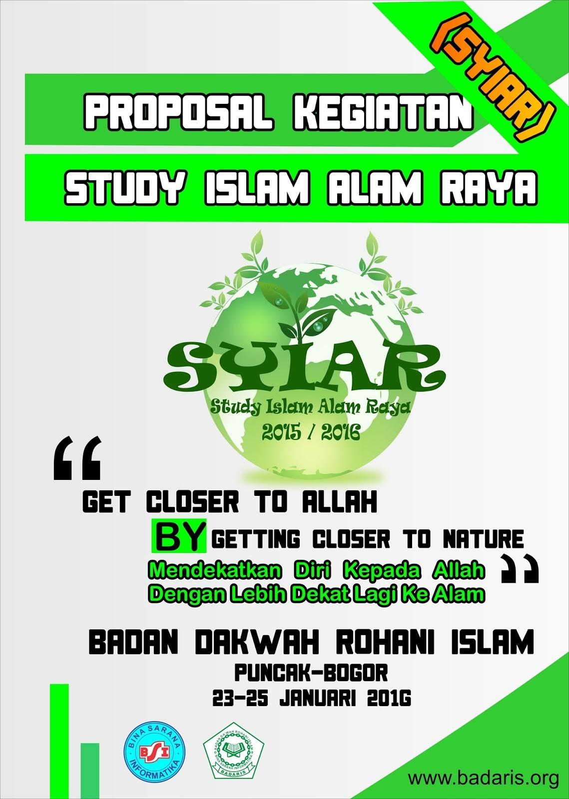 "template proposal kegiatan  free template banner kegiatan super keren SYIAR ""study .."