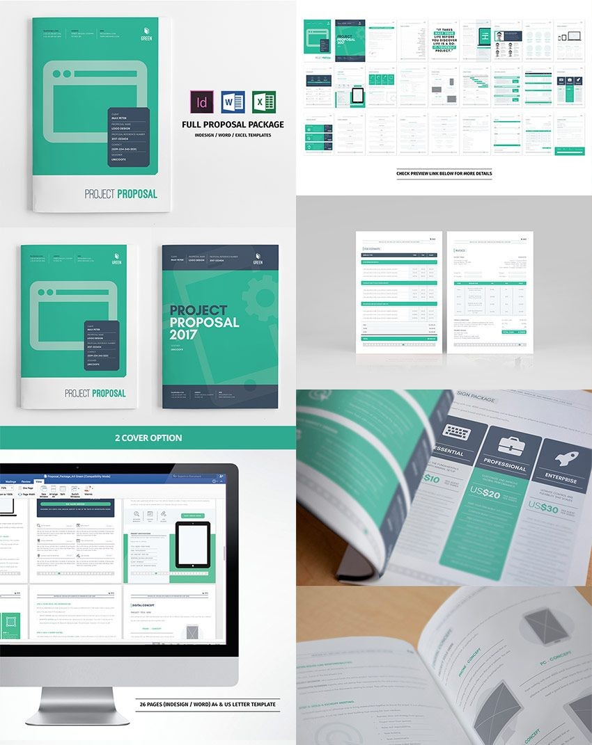 template proposal kreatif  Full Business Proposal Template Package Design | Business ..