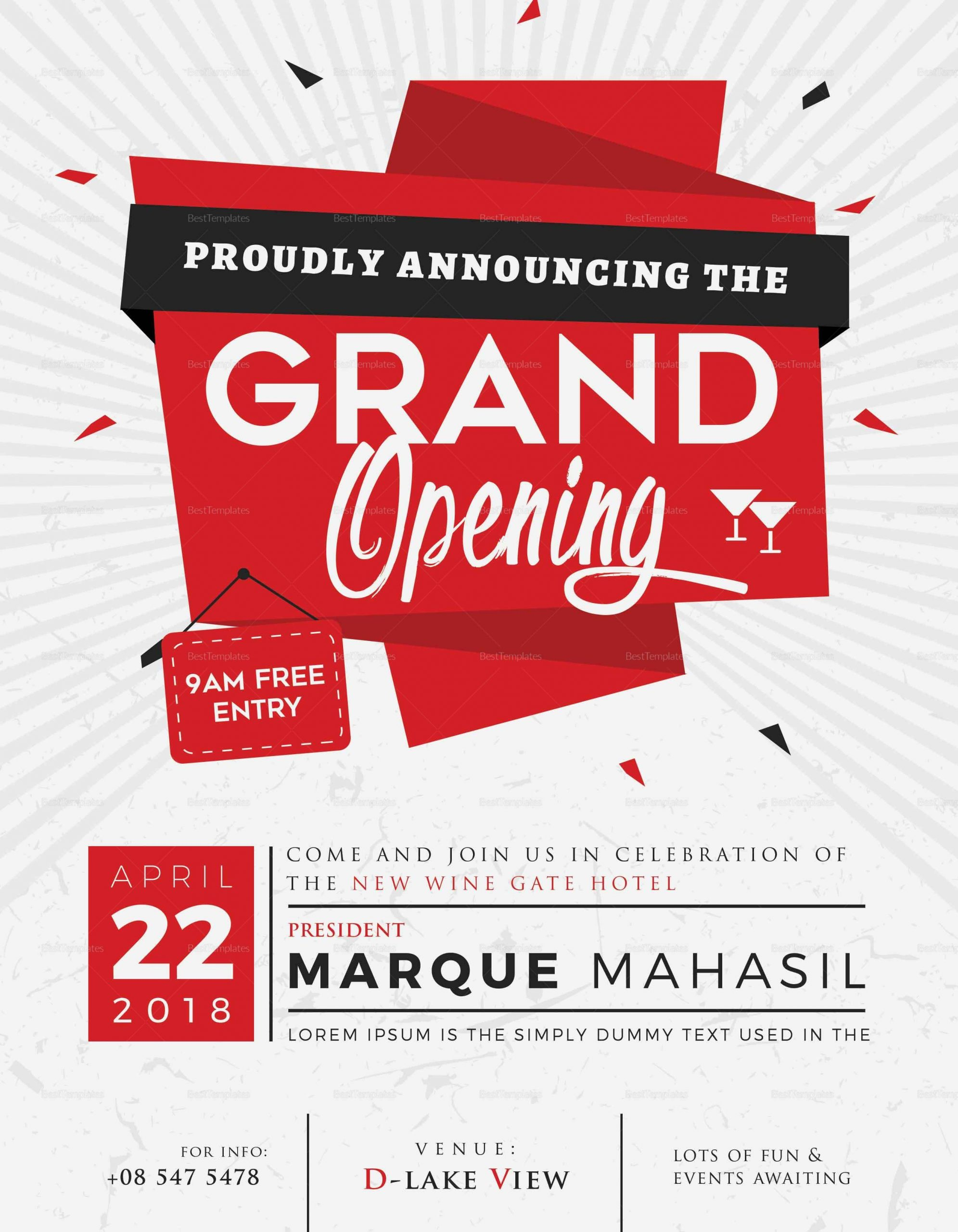 grand opening flyer template  Grand Opening Flyer Design Template in Word, PSD ..