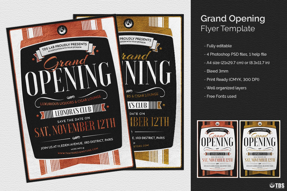 grand opening flyer template  Grand Opening Flyer Template | Invitations poster Design Store - grand opening flyer template