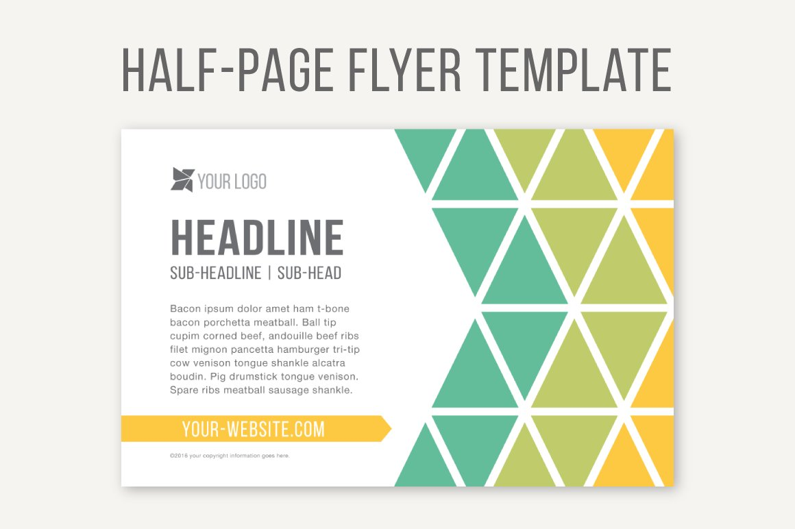 half page flyer template  Half-Page Flyer Template ~ Templates ~ Creative Market - half page flyer template