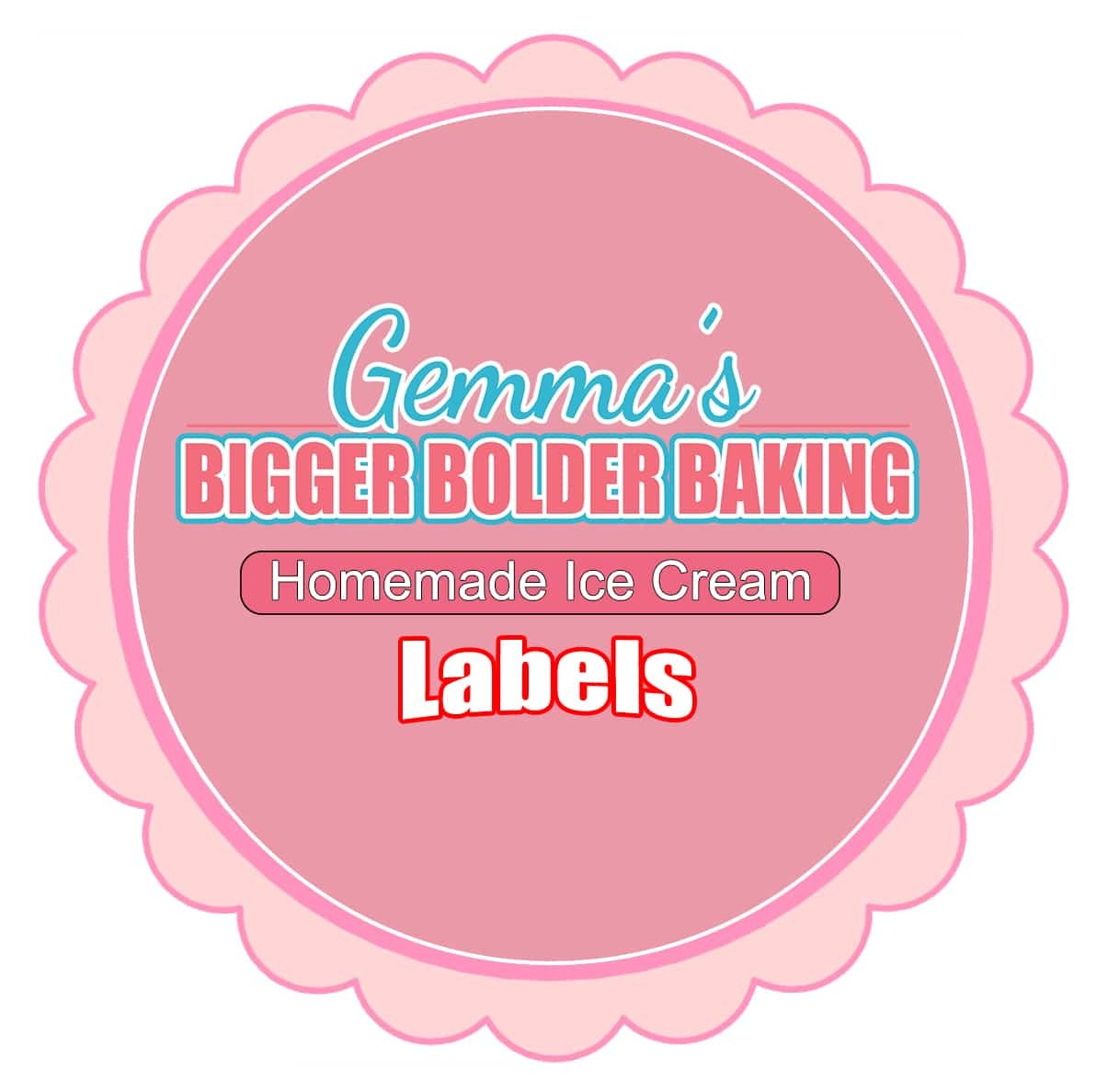 ice cream labels template  Homemade Ice Cream Label Template - Gemma's Bigger Bolder ..