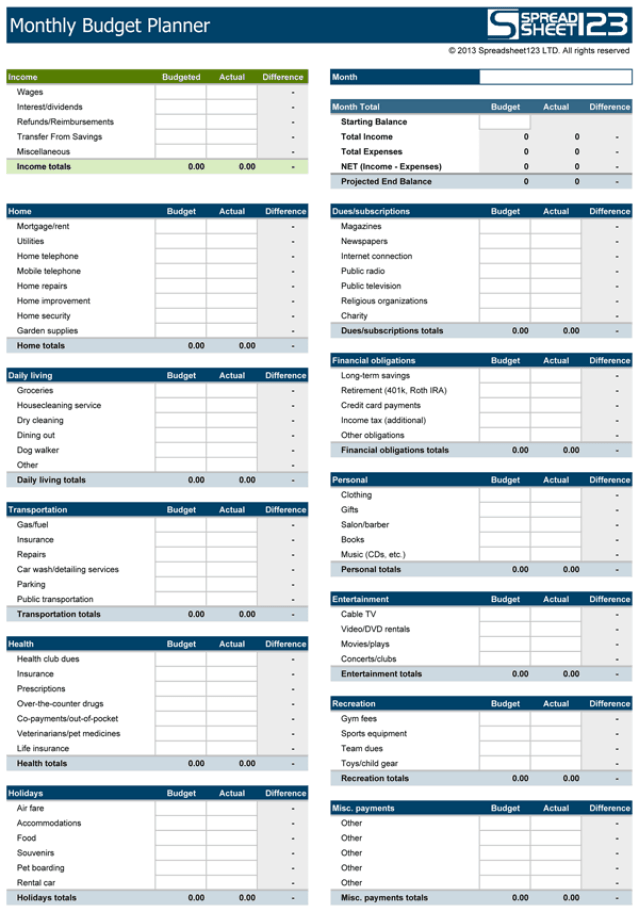 budget template uk  Household Budget Templates - Find Word Templates - budget template uk