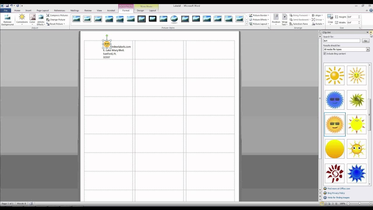 name labels template word  How to Add Images and Text to Label Templates in Microsoft ..