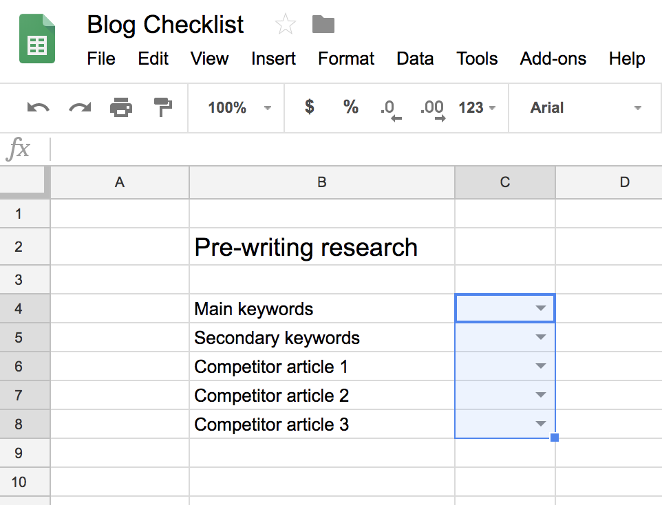 checklist template google sheets  How to Create a Google Sheets Checklist | Zenkit - checklist template google sheets
