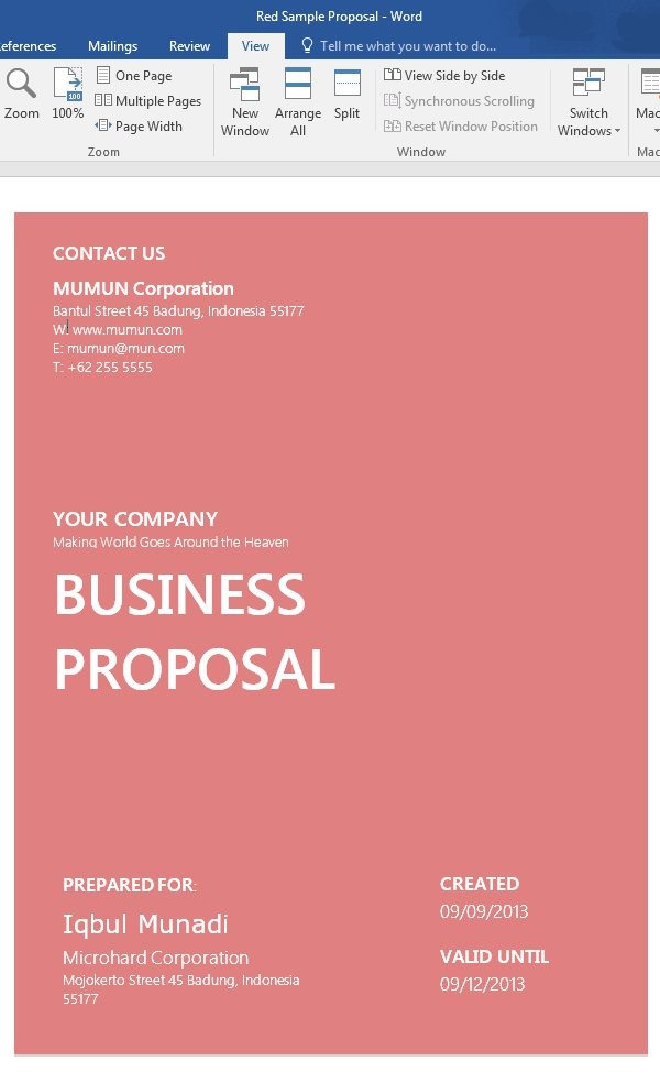 proposal template cover page  How to Customize a Simple Business Proposal Template in MS ..