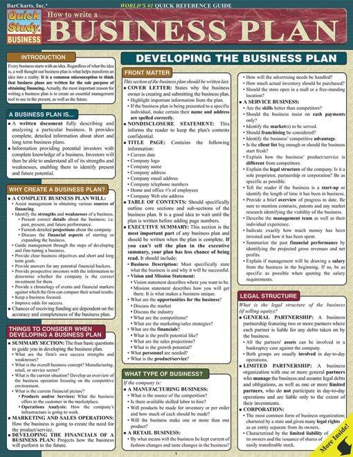business plan template gratis besigheidsplan  How To Write A Business Plan | Examville - Sellfy