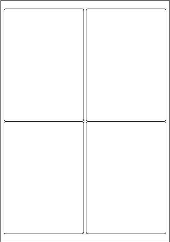 4 labels per sheet template  Label Template 4 Per Sheet | printable label templates - 4 labels per sheet template