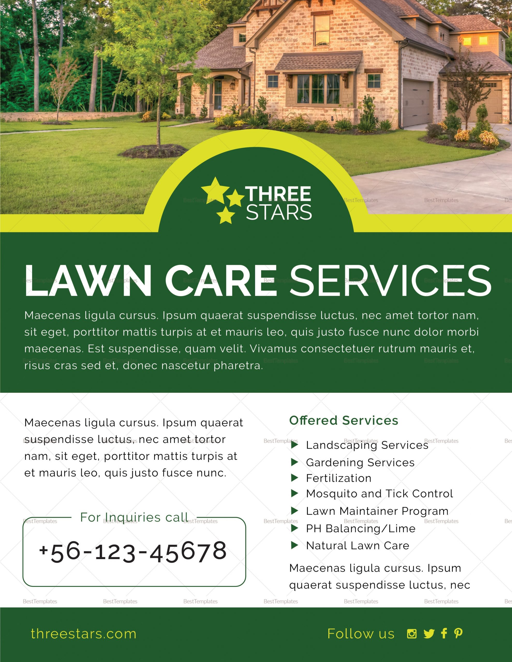 lawn care flyer template  Lawn Care Flyer Design Template in PSD, Word, Publisher ..