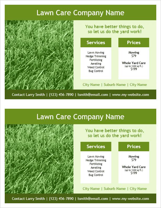 lawn care flyer template  Lawn Care Flyer Template for Word - lawn care flyer template