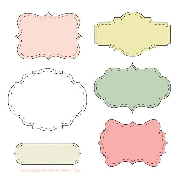 cute name labels template  Makea -Free cute label frames | Free label templates ..