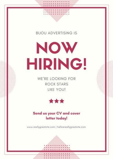 job posting flyer template  Maroon Job Post / Vacancy / Announcement Flyer - Templates ..