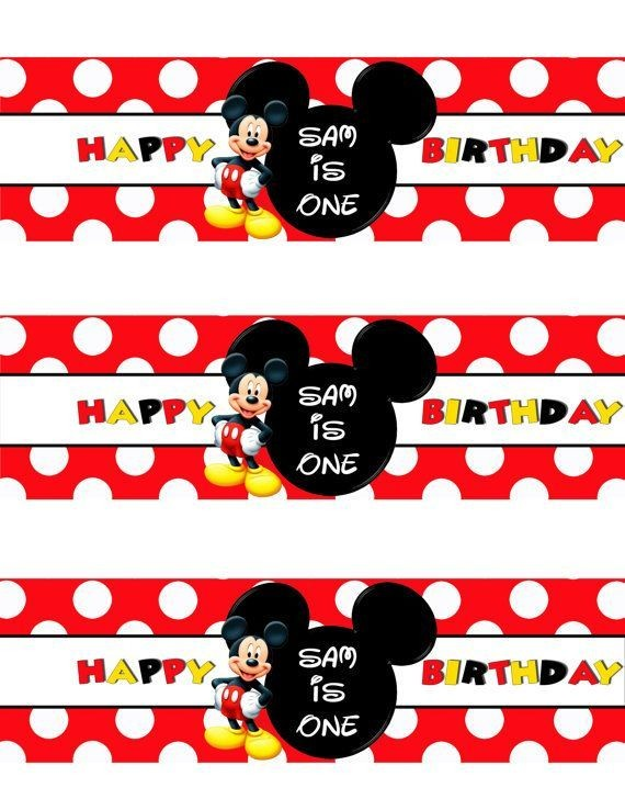 mickey mouse labels template  Nice FREE Template Free Printable Mickey Mouse Bottle ..