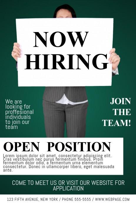 free job flyer template  Now Hiring Job Fair Flyer Template | PosterMyWall - free job flyer template