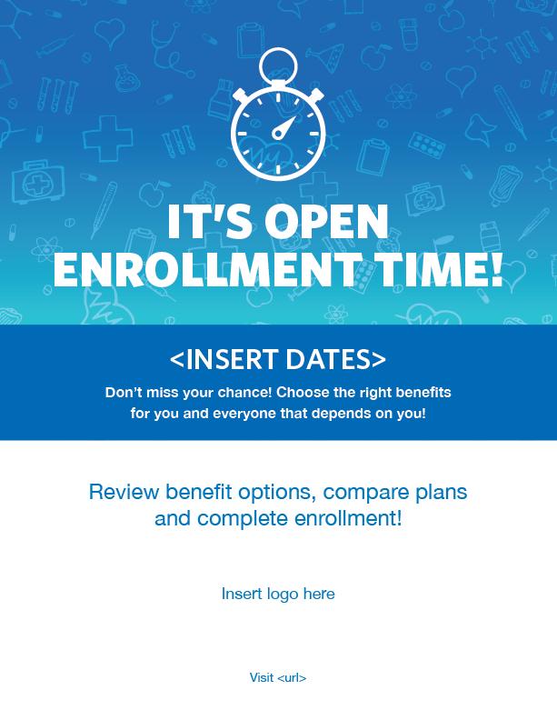 401k flyer template  Open enrollment poster template - 401k flyer template