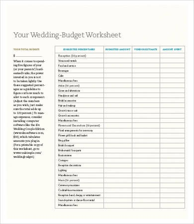 ugandan wedding budget template  Party Budget Template - 11+ Free Word, PDF Documents ..